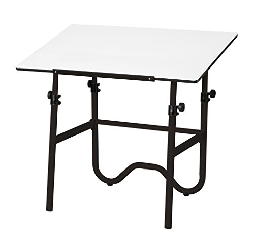 Alvin ONX42-3 Onyx Black Base with White 30 inches x 42 inches Top by Alvin