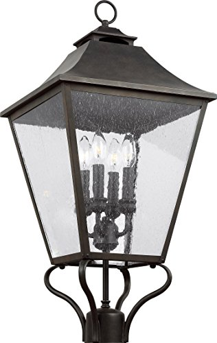 Feiss OL14407SBL Galena Outdoor Post lantern, Sable 4-Light (13