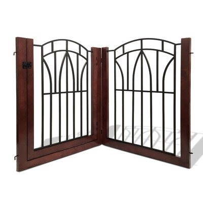 846419037721 - Bombay Company Arlington Pet Gate with Door (2 pieces) carousel main 0