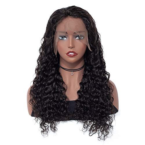 ISEE Hair Water Wave Lace Front Wigs Unprocessed Brazilian Virgin Human Hair Wig Pre Plucked Natural with Baby Hair Wig for Black Women 150% Density (18 inch 13X4 Lace Front Wig) (Best Lace Wig Websites)