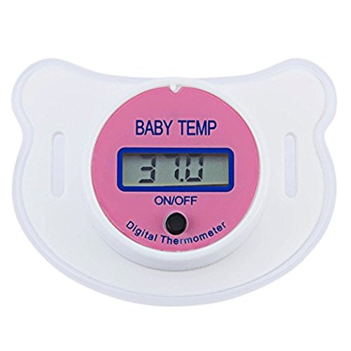 - Rebecca online baby thermometer mouth,Baby Pacifier Thermometer Portable LCD Digital With Protective Storage Cover Safety Health Nipple (Pink)