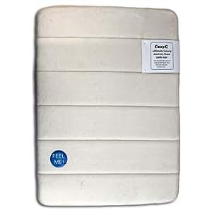 Ultra Absorbent Memory Foam Bathroom Bath Mat/Rug Slip Resistant Beige