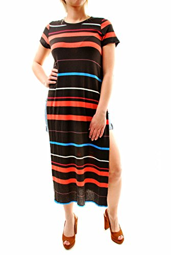 Free People Women Authentic manches courtes Trop Legit Maxi Tee Noir Taille XS