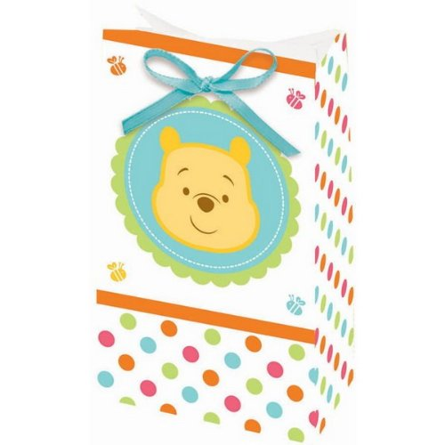 Winnie the Pooh 'Little Hunny' Baby Shower Favor Bags w/ Ribbons (12ct) ()