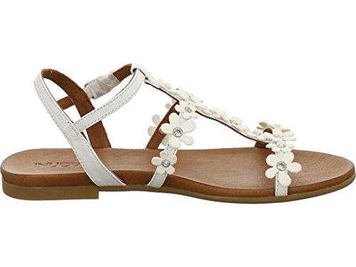 Inuovo 7355 - Sandalias de vestir de Piel para mujer blanco