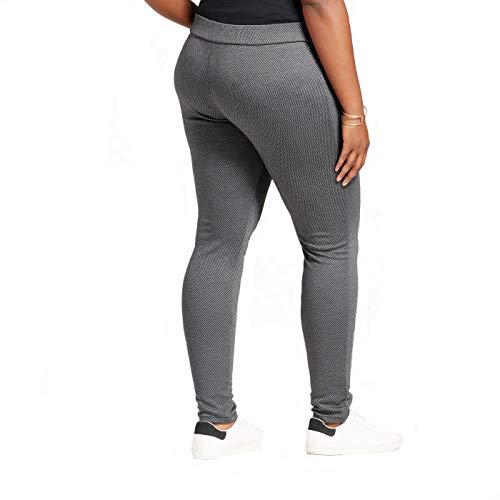 fc58d75aa6f Ava   Viv Women s Plus Size Pull On Ponte Pants - Gray Herringbone - (4X)  at Amazon Women s Clothing store
