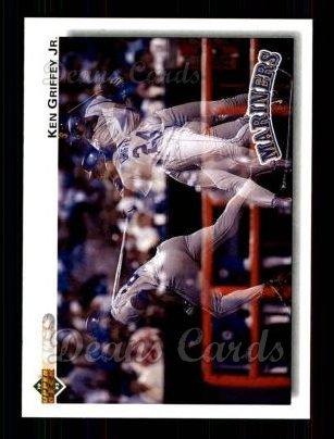 eec4af66e3 1992 Upper Deck # 424 Ken Griffey Jr. Seattle Mariners (Baseball Card)  Dean's