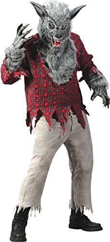 Silver Costumes Adult Werewolf (Fun World Costumes Grey Werewolf)