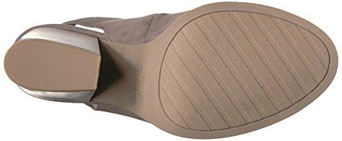 Qupid Women's Wood Heeled Sandal Taupe Suede Polyurethane Pr6QLAahbk