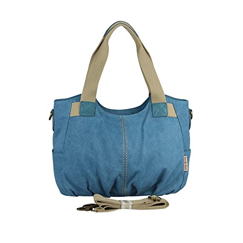OBC Only-Beautiful-Couture - Bolso de asas para mujer azul azul ca.: 40x25x15 cm (BxHxT) azul