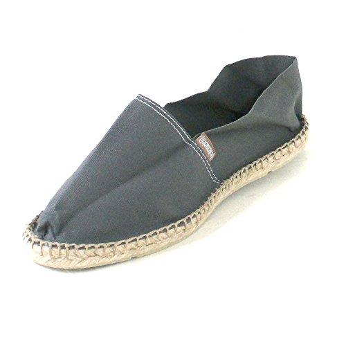 Espadrij Loriginale Kvinna Klassiska Bomull Sneakers Asfalt Hade Storlek 41 - Oss 9,5