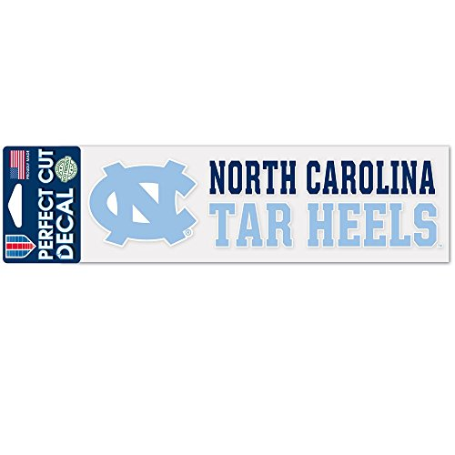 North Carolina Tar Heels Official NCAA 3 inch x 10 inch Die Cut Car Decal by Wincraft
