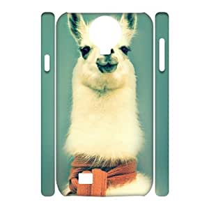 Adorable alpaca Cheap 3D Hard Back Cover Case for SamSung Galaxy S4 I9500, Cheap Adorable alpaca 3D Cell Phone Case
