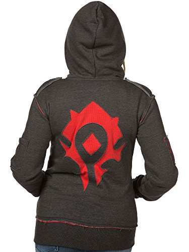 JINX World of Warcraft Champion of The Horde Women's Gamer Zip-Up Hoodie