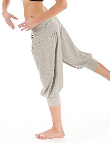 Winshape WBE3 Pantalon d'entraînement 3/4 pour femme L Gris - Gris mélangé