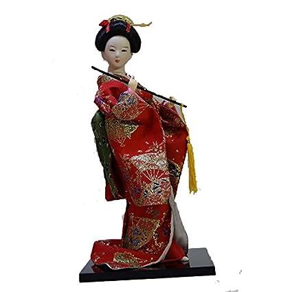 Amazon com: Japanese silk furnisings kimono geisha doll