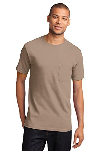 Port & Company Men's Tall Essential T Shirt with Pocket XLT Sand