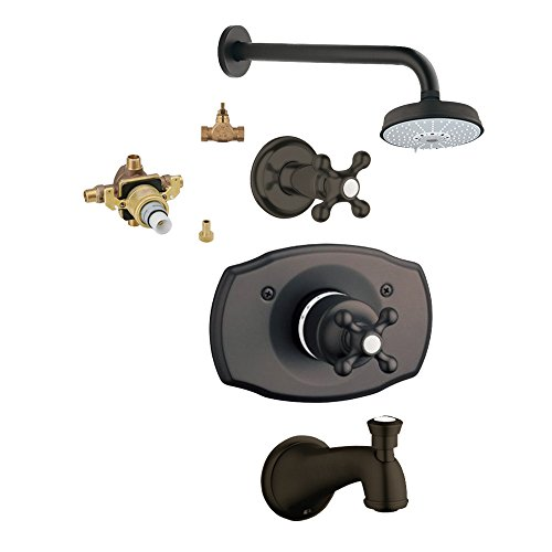 Grohe KTS19612-34331R-ZB0 Seabury Tub and Shower Valve Kit, Oil Rubbed Bronze