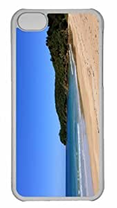 Customized iphone 5C PC Transparent Case - Wild Sea Shore Personalized Cover