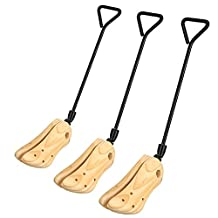 Unisex Professional Shoe Boot Stretcher Size 5-13,Width Boots, Wood Set of 2