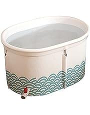 Inflatable bathtub Foldable Bathtub Bath Barrel, Double Adult Child Full Body Household Bath Barrel, Free-Standing Soaking Bathtub