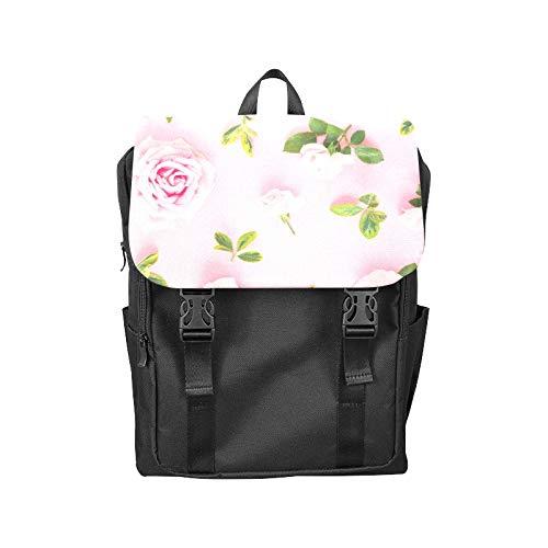 Fashion Flip Cover Notebook Pink Spring Romantic Sweet Fragrant Flower Print Laptop Backpack Travel Men Women Business Computer Backpack Oxford Fabric Vintage School Shoulder Bag