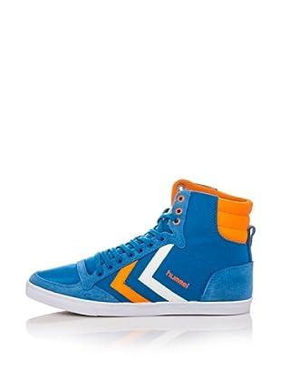 3e7ac6bc3be9 Hummel Sneakers Hummel Slimmer Stadil High (Blu Arancio)