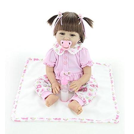 Nicery Baby Born Reborn Weich Silikon Vinyl für Jungen und Mädchen Geburtstagsgeschenk 50-55cm Dolls gx55-52de