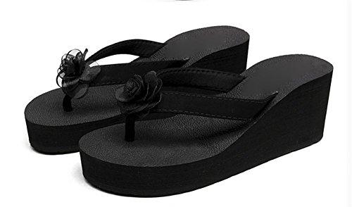 pengweiSuelas m¨¢s gruesas zapatillas sandalias de playa con sandalias de flores de moda zapatillas cool 3