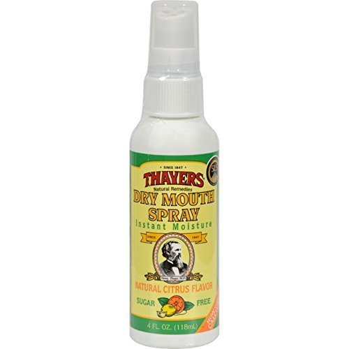 Thayers Sugar-Free Dry Mouth Spray, Citrus, 4 Fluid Ounce (Pack of 6) by Thayer, Henry Company