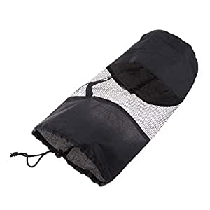 Blesiya Yoga Bag with Drawstring Closure Yoga Accessories Pilates Pad Bag Yoga Shoulder Bag Mat Carrier Black
