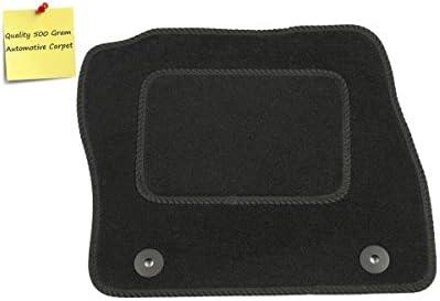 Deluxe Black with Black Trim Connected Essentials CEM500 Car Mat Set
