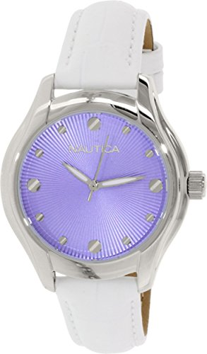 Nautica Women's N10507M Silver Leather Quartz Watch