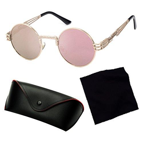 femmes lunettes pour hibote Punk soleil soleil de Vintage C13 hommes Steampunk HipHop lunettes Métal de Classique WCxBU6zH