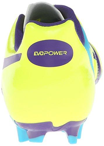 ... Puma Mens Evopower 4 Fast Smalt Fotballsko Fluro Gul / Prisme Fiolett / Blå  Dykke ...