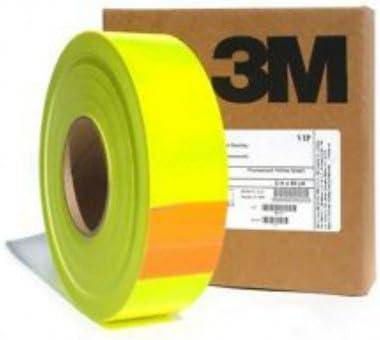 3M Nastro Pellicola Adesivo Fluorescente Alta visibilit/à Giallo 25//50//200mm 50mm, Lunghezza - 1 Metro