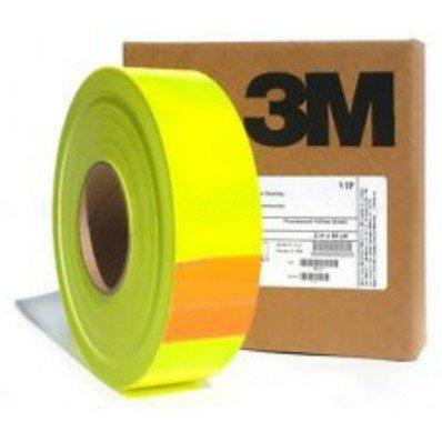 Nastro pellicola adesivo fluorescente alta visibilità giallo 3M da 25/50/200mm (25mm, Lunghezza - 1 metro) StickersLab