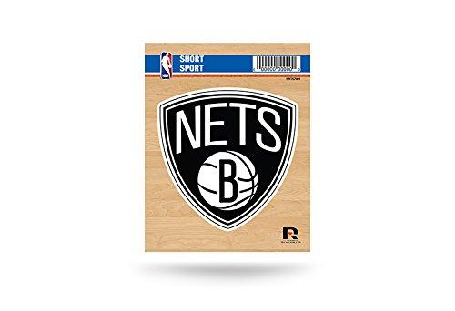 Rico Industries NBA Brooklyn Nets Die Cut Team Logo Short Sport Sticker