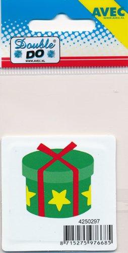 "Con diseño de doble do con diseño de plantilla de,""caja de regalo"