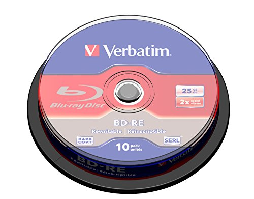 Verbatim BD-RE 25GB 2X with Branded Surface - 10pk Spindle