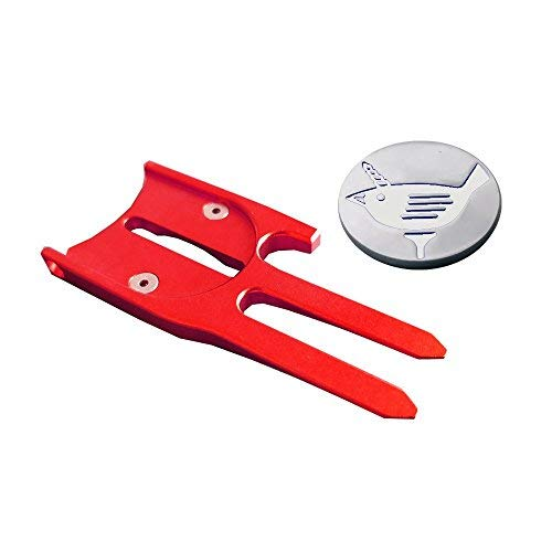Birdicorn Divot Tool (Red w/Ball Marker)