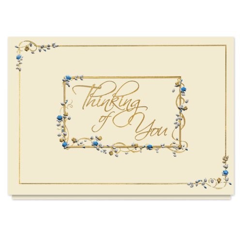 Floral Thoughts Sympathy Card - 25 Premium Thinking of Yo...