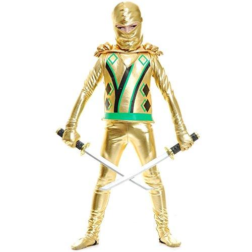 Ninja Costumes (Charades Child Golden Ninja Series III Costume Jumpsuit, Gold, Small)