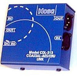 Hosa CDL-313 Coaxial-SPDIF to AES-EBU Link - Converter Coaxial Data Link AES/EBU (XLR) to S/PDIF (RCA) -