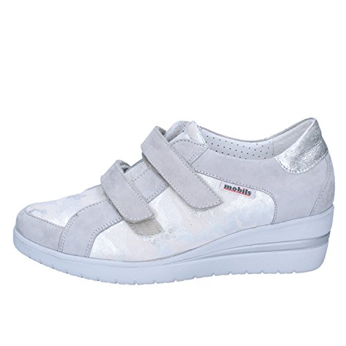 Mobils Mephisto Donna Pelle Sneaker Argento Scamosciata dFqFBxY