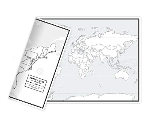 - Educational Blank Outline Maps, 2-Sided World & US, 17
