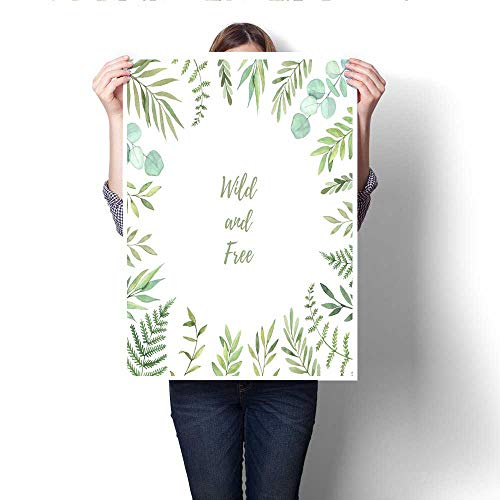 The Picture for Home Decoration Hand Drawn Watercolor Illustration Botanical Square Frame with Green Leaves Branches and Herbs Floral Design Elements Perfect for Wedding Invitations Greeting Cards pr]()