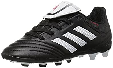 adidas Performance Kids' Copa 17.4 J Firm Ground Soccer Cleat, Black/White/Black, 10.5 M US Little Kid