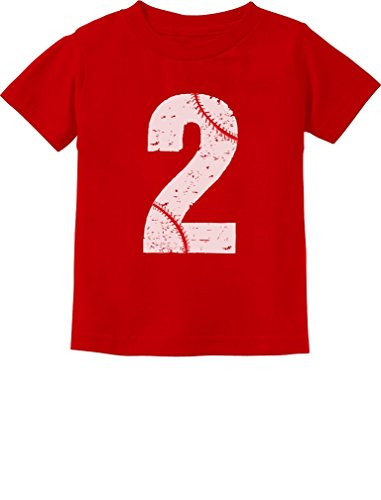 TeeStars - Baseball 2nd Birthday Gift for Two Year Old Toddler Kids T-Shirt 3T - Star Toddler T-shirt
