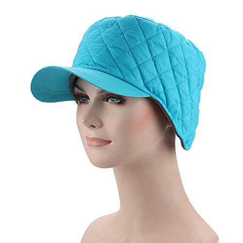 Maoko Men and Women Winter Fleece Lined Ski Snow Baseball Cap Hat / Earflap Hat Cap with Earmuffs Warmer SkyBlue ()